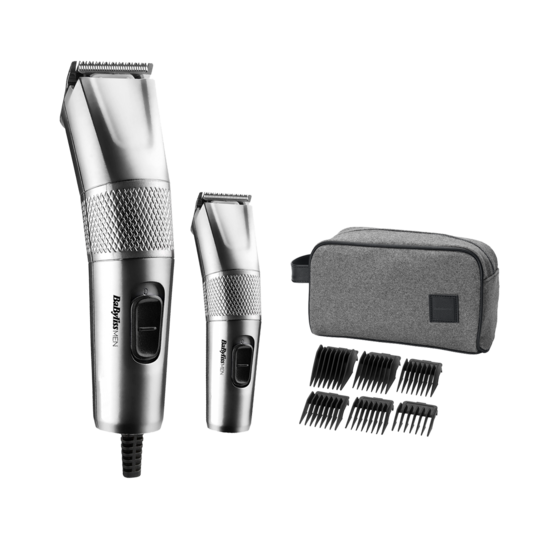 Set aparat de tuns părul și mini trimmer Steel Edition Clipper 7755PE,  BaByliss
